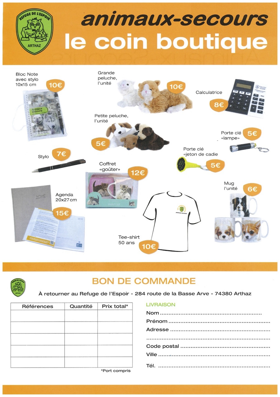 Le coin boutique