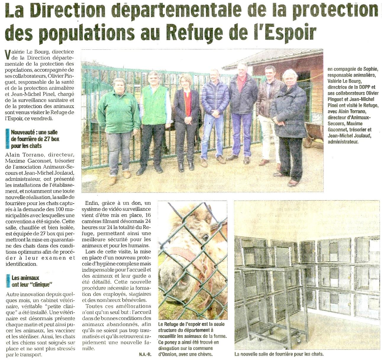 Animaux-Secours Le Dauphiné Libéré 08042015