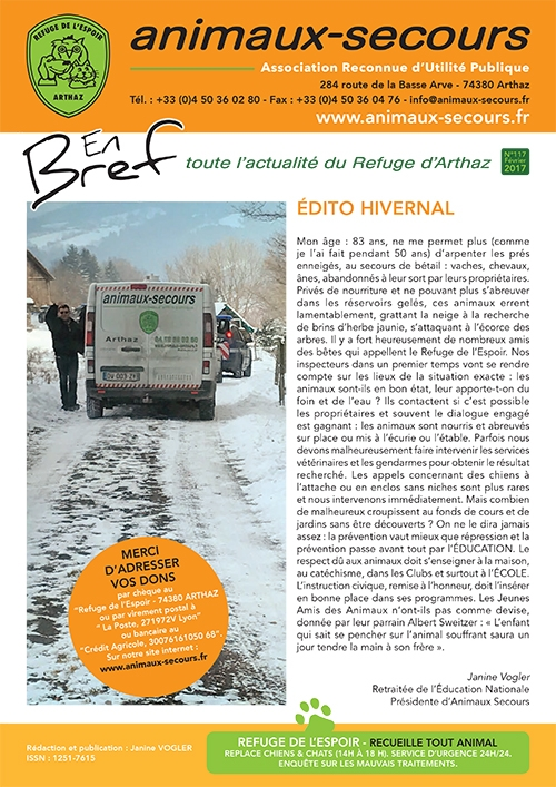 Magazine Animaux Secours N117 Février 2017